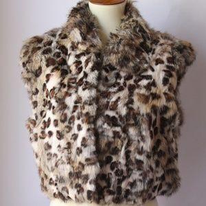 Adrienne Landau Rabbit Vest Size Large